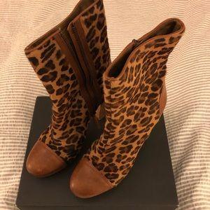 UGG Leopard pony hair & leather platform booties